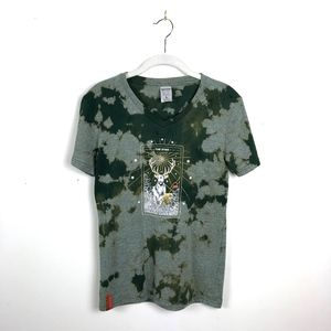 Stag Jaegermeister V Neck Graphic Bleached Tee